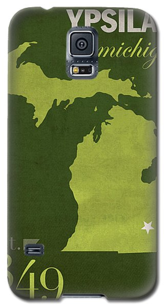 Eastern Michigan University Eagles Ypsilanti College Town State Map Poster Series No 035 Galaxy S5 Case by Design Turnpike