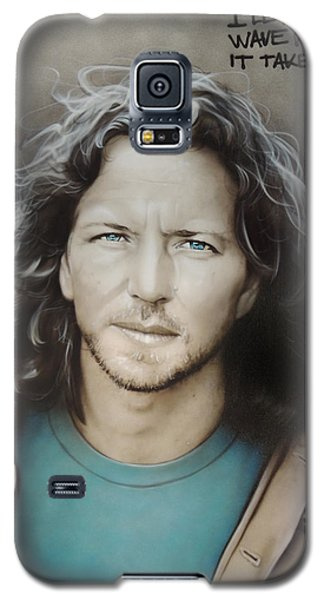' Eddie Vedder ' Galaxy S5 Case by Christian Chapman Art