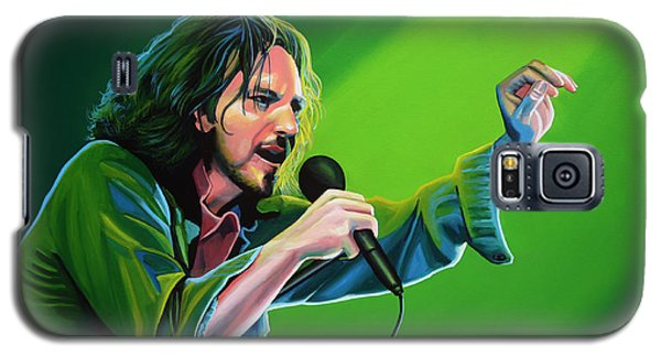 Eddie Vedder Of Pearl Jam Galaxy S5 Case by Paul Meijering