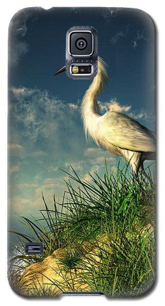 Egret In The Dunes Galaxy S5 Case by Daniel Eskridge