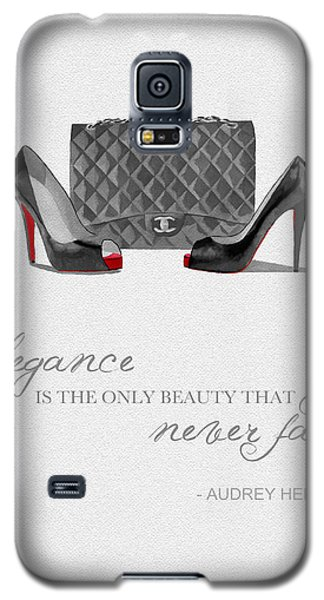Elegance Never Fades Black And White Galaxy S5 Case by Rebecca Jenkins