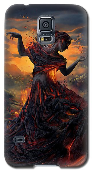 Galaxy S5 Cases - Elements - Fire Galaxy S5 Case by Cassiopeia Art