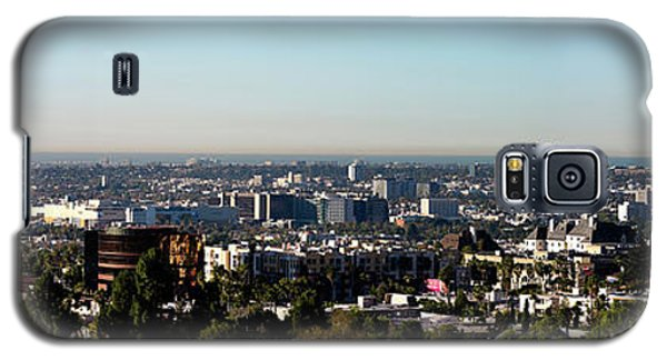 Elevated View Of City, Los Angeles Galaxy S5 Case by Panoramic Images