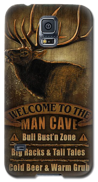 Elk Man Cave Sign Galaxy S5 Case by JQ Licensing