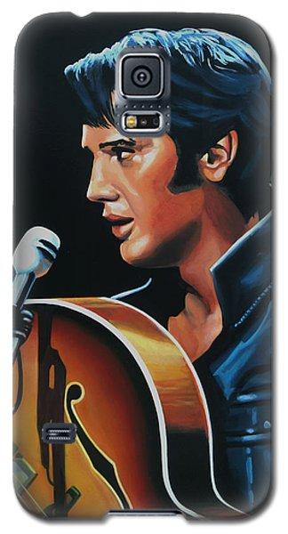 Elvis Presley 3 Painting Galaxy S5 Case by Paul Meijering