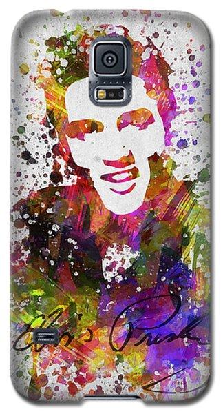 Elvis Presley In Color Galaxy S5 Case by Aged Pixel