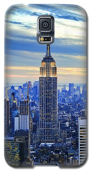Empire State Building New York City Usa Galaxy S5 Case by Sabine Jacobs
