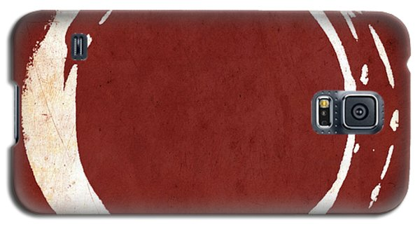 Red Galaxy S5 Cases - Enso No. 107 Red Galaxy S5 Case by Julie Niemela