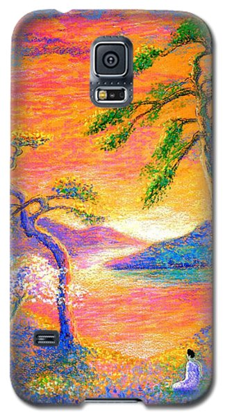 Impressionism Galaxy S5 Cases - Divine Light Galaxy S5 Case by Jane Small