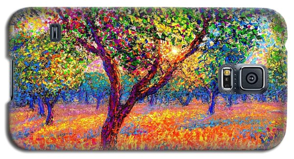 Landscapes Galaxy S5 Cases - Evening Poppies Galaxy S5 Case by Jane Small