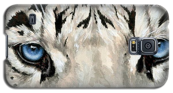 Galaxy S5 Cases - Eye-Catching Royal White Bengal Galaxy S5 Case by Barbara Keith