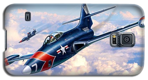 F9f-5p Photo Panthers Galaxy S5 Case by Stu Shepherd