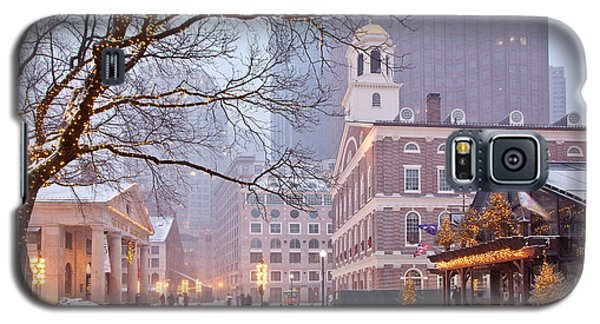 Faneuil Hall In Snow Galaxy S5 Case by Susan Cole Kelly