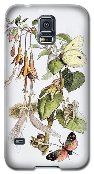 Feasting And Fun Among The Fuschias Galaxy S5 Case by Richard Doyle