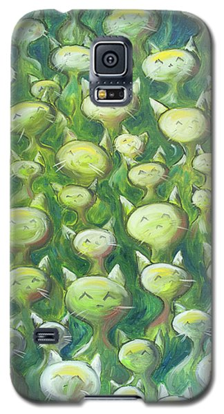 Galaxy S5 Cases - Field Of Cats Galaxy S5 Case by Nik Helbig