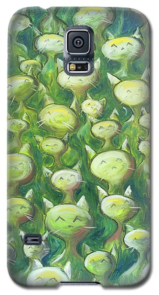 Field Of Cats Galaxy S5 Case by Nik Helbig
