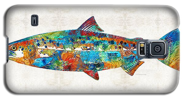 Fish Art Print - Colorful Salmon - By Sharon Cummings Galaxy S5 Case by Sharon Cummings