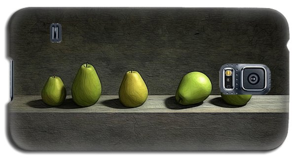 Still Life Galaxy S5 Cases - Five Pears Galaxy S5 Case by Cynthia Decker