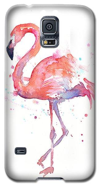 Flamingo Watercolor Galaxy S5 Case by Olga Shvartsur