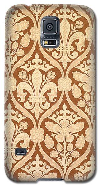 Tapestries - Textiles Galaxy S5 Cases - Fleur-de-Lis Galaxy S5 Case by Augustus Welby Pugin