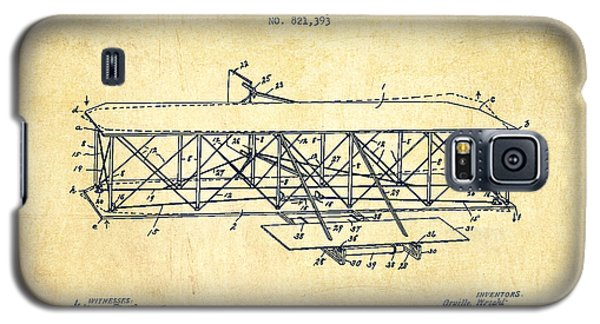 Flying Machine Patent Drawing From 1906 - Vintage Galaxy S5 Case by Aged Pixel