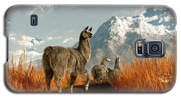 Follow The Llama Galaxy S5 Case by Daniel Eskridge