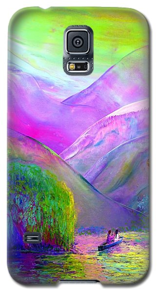 Green Galaxy S5 Cases - Following the Flow Galaxy S5 Case by Jane Small