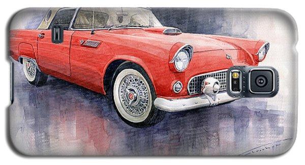 Ford Thunderbird 1955 Red Galaxy S5 Case by Yuriy  Shevchuk