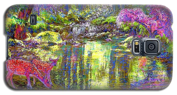 Impressionism Galaxy S5 Cases - Forest of Light Galaxy S5 Case by Jane Small