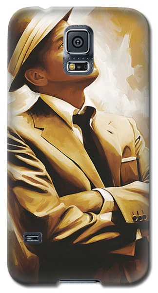 Celebrities Galaxy S5 Cases - Frank Sinatra Artwork 1 Galaxy S5 Case by Sheraz A