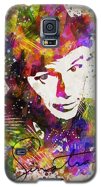 Frank Sinatra In Color Galaxy S5 Case by Aged Pixel