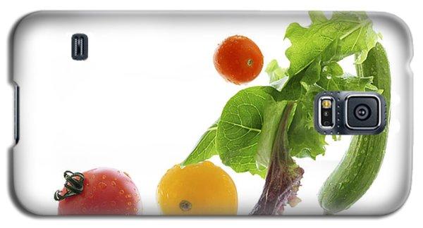 Fresh Vegetables Flying Galaxy S5 Case by Elena Elisseeva