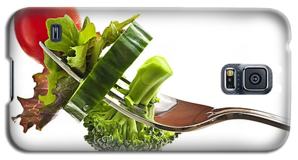 Fresh Vegetables On A Fork Galaxy S5 Case by Elena Elisseeva