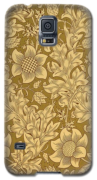 Tapestries - Textiles Galaxy S5 Cases - Fritillary wallpaper design Galaxy S5 Case by William Morris