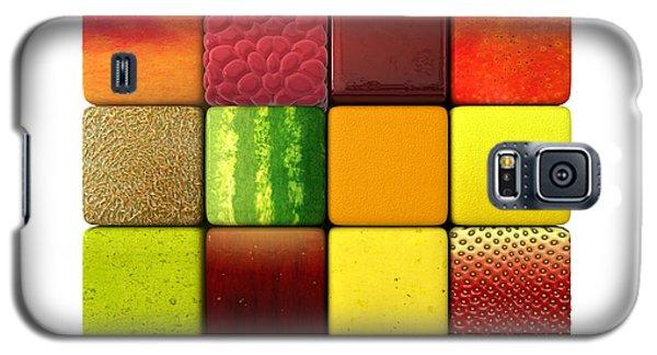 Fruit Cubes Galaxy S5 Case by Allan Swart