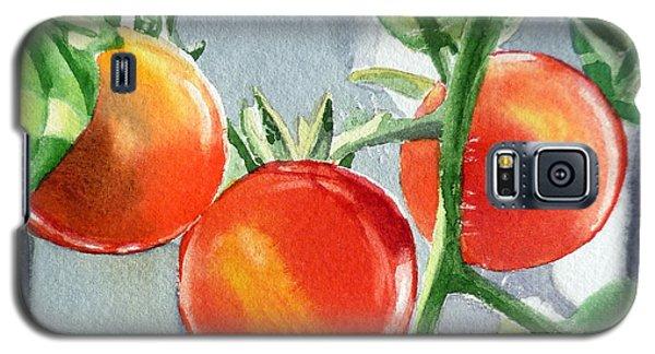 Garden Cherry Tomatoes  Galaxy S5 Case by Irina Sztukowski