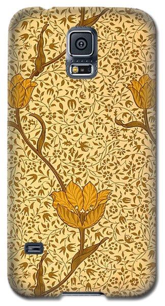 Tapestries - Textiles Galaxy S5 Cases - Garden Tulip Wallpaper Design Galaxy S5 Case by William Morris