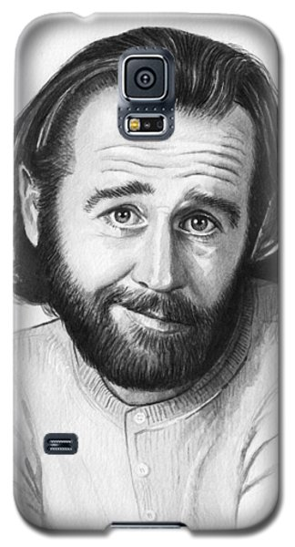Celebrities Galaxy S5 Cases - George Carlin Portrait Galaxy S5 Case by Olga Shvartsur