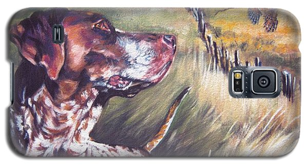 German Shorthaired Pointer And Pheasants Galaxy S5 Case by Lee Ann Shepard