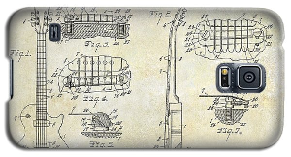 Gibson Les Paul Patent Drawing Galaxy S5 Case by Jon Neidert