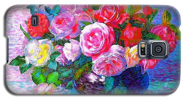 Summer Galaxy S5 Cases - Gift of Roses Galaxy S5 Case by Jane Small