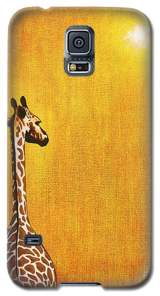 Giraffe Looking Back Galaxy S5 Case by Jerome Stumphauzer