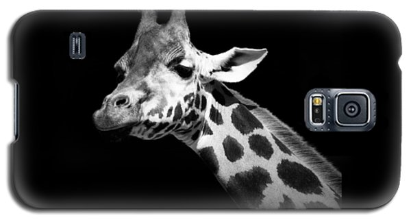 Portrait Of Giraffe In Black And White Galaxy S5 Case by Lukas Holas
