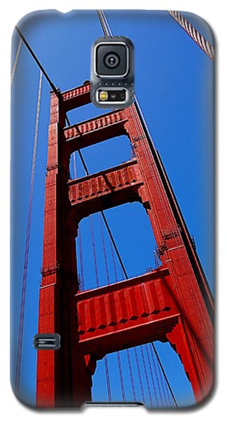 Golden Gate Tower Galaxy S5 Case by Rona Black