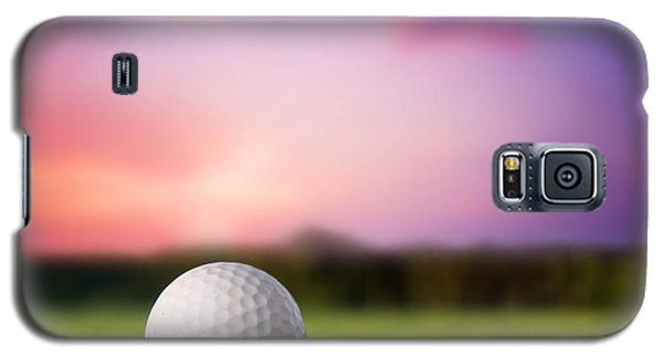 Golf Ball On Tee At Sunset Galaxy S5 Case by Michal Bednarek