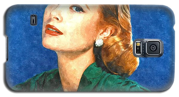 Grace Kelly Painting Galaxy S5 Case by Gianfranco Weiss