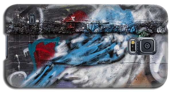 Graffiti Bluejay Galaxy S5 Case by Carol Leigh