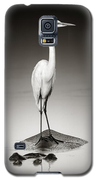 Great White Egret On Hippo Galaxy S5 Case by Johan Swanepoel