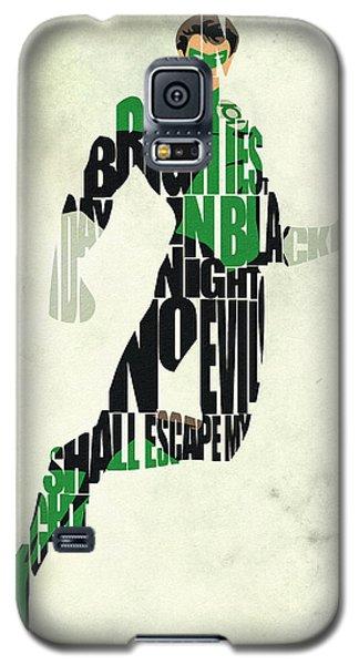 Green Galaxy S5 Cases - Green Lantern Galaxy S5 Case by Ayse Deniz
