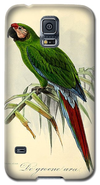 Green Parrot Galaxy S5 Case by J G Keulemans
